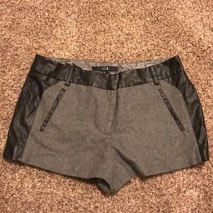 Wool/leather shorts